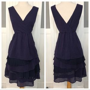 Ric Rac navy lace tiered skirt Anthropologie dress